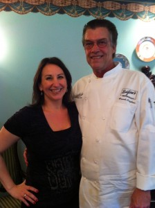 Chef Brigtsen with Maria