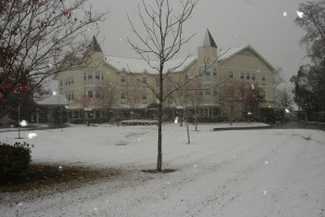 Snow at St. Francis Villa
